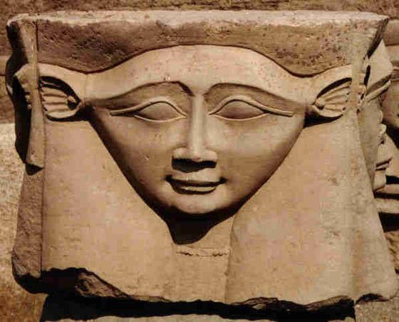 Hathor szobor Denderában